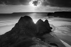 Un tramonto delle tre scogliere Fotografia Stock