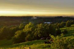 Un tramonto di estate sopra il Ozarks Fotografia Stock