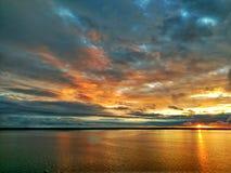 Un tramonto haitiano immagine stock