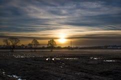 Un tramonto scuro Immagine Stock Libera da Diritti