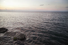 Un tramonto su Malecon, Cuba Fotografie Stock