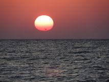 Un tramonto sul Mar Nero Immagine Stock Libera da Diritti