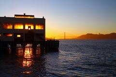 Un tramonto sul pilastro Fotografia Stock