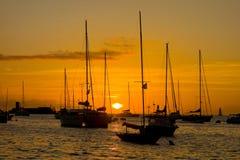 Un tramonto tropicale spettacolare Immagini Stock