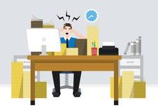 Un travailleur stressant des employés Photo stock