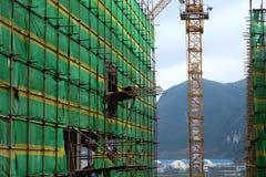 Un travailleur sur le site Photo libre de droits