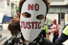 Protestation de travailleurs photo stock