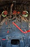 Un tren muy viejo del vapor Foto de archivo libre de regalías