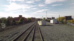 Un tren sale estación de Schenectady almacen de metraje de vídeo