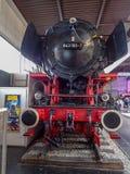 Un tren viejo del vapor en un museo Fotos de archivo libres de regalías