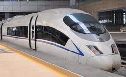Un treno ad alta velocità Fotografia Stock Libera da Diritti