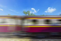 Un treno commovente Fotografia Stock Libera da Diritti