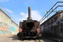 Un treno molto vecchio fotografie stock