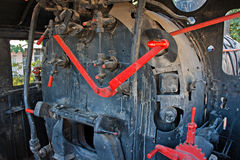 Un treno molto vecchio del vapore Immagine Stock Libera da Diritti