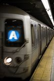 Un treno a New York Immagini Stock