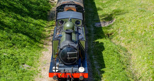 Un treno a vapore d'annata Immagini Stock