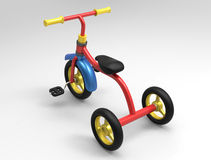 Un triciclo del bambino 3D Immagini Stock Libere da Diritti
