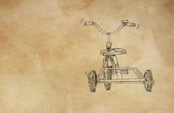 Un tricycle des ann?es 50 pour des enfants photos stock
