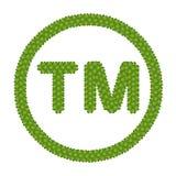 Un trifoglio dei quattro fogli del segno di marchio Immagine Stock