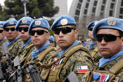 UN troops Royalty Free Stock Photography