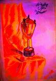 Un trophée pour des gagnants illustration stock