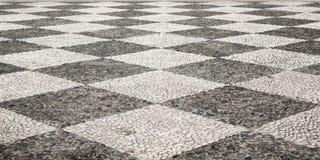 Un trottoir en pierre portugais typique Images libres de droits