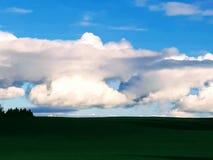 Un trou dans les nuages donnent l'espoir pour plus de soleil image stock