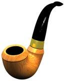 Un tubo de madera de caoba clásico con el tubo blacklassic Fotografía de archivo libre de regalías