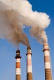 Un tubo dei tre fumaioli Fotografia Stock Libera da Diritti