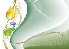 Un tulipano e una viola Immagini Stock