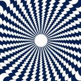 Un tunnel des cercles blancs et bleus, boules sont alignés dans un circ Photo stock