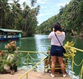 Un turista in Bohol Fotografia Stock