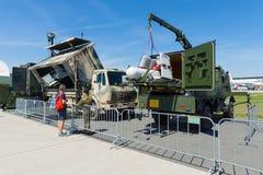 Un UAV aérien téléguidé de véhicule avec des caractéristiques Rheinmetall KZO de discrétion Images libres de droits