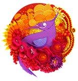 Un uccello del paradiso in fiori Fotografia Stock Libera da Diritti