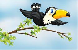Un uccello di volo illustrazione di stock