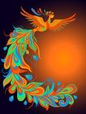 Un uccello mitico del fuoco Fotografia Stock
