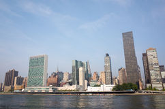 UN United Nations headquarters complex and adjacent Manhattan sk Royalty Free Stock Photo