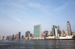UN United Nations headquarters complex and adjacent Manhattan sk Stock Images
