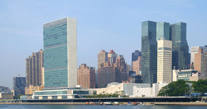 UN United Nations headquarters complex as seen from Roosevelt Is Royalty Free Stock Photo