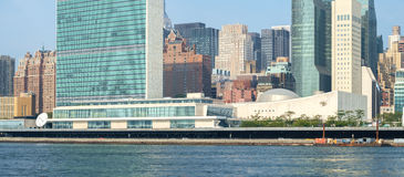 UN United Nations headquarters complex as seen from Roosevelt Is Stock Photography