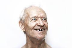 Un uomo anziano allegro Fotografia Stock Libera da Diritti