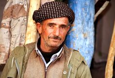 Un uomo curdo anziano Fotografia Stock Libera da Diritti