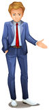Un uomo d'affari che sta portante un abbigliamento convenzionale Immagine Stock Libera da Diritti