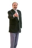 Un uomo d'affari dell'amputato isolato su bianco Fotografia Stock Libera da Diritti