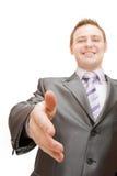 Un uomo di affari che agita le mani Immagini Stock Libere da Diritti