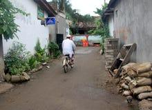 Villaggio indonesiano Fotografia Stock Libera da Diritti