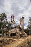 Un uomo ha costruito il castello Fotografia Stock Libera da Diritti