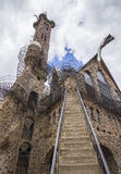 Un uomo ha costruito il castello Fotografie Stock