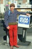 Un uomo Lucidare-Americano Fotografia Stock Libera da Diritti