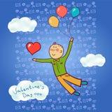 Un uomo nell'amore, San Valentino Fotografia Stock